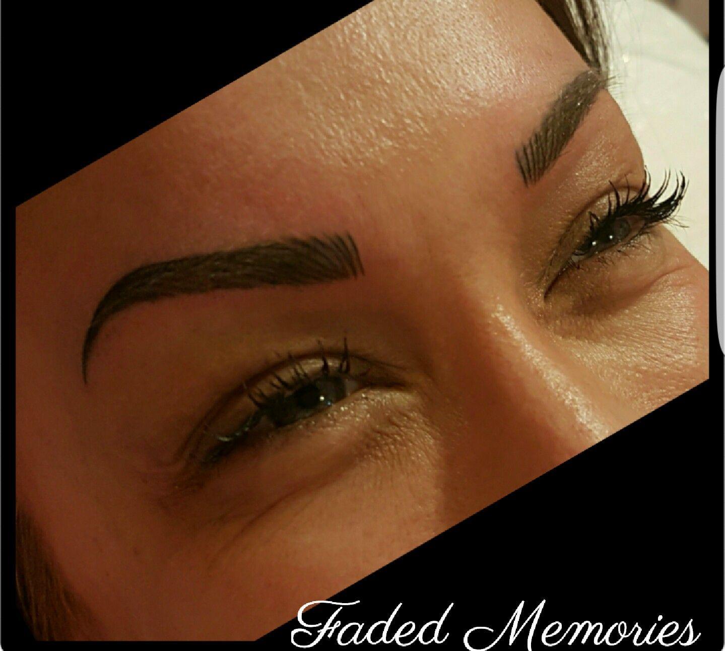 Tattoo eyebrows Faded Memories Semi permanent eyebrows