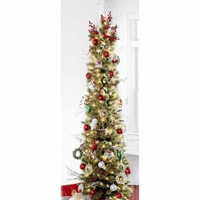 7 ft pre lit cashmere pencil tree christmas pencil christmas tree christmas christmas. Black Bedroom Furniture Sets. Home Design Ideas