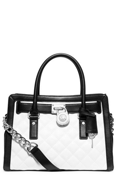8ab4bd13bdf4 MICHAEL Michael Kors 'Hamilton' Quilted Lambskin Satchel available at  #Nordstrom