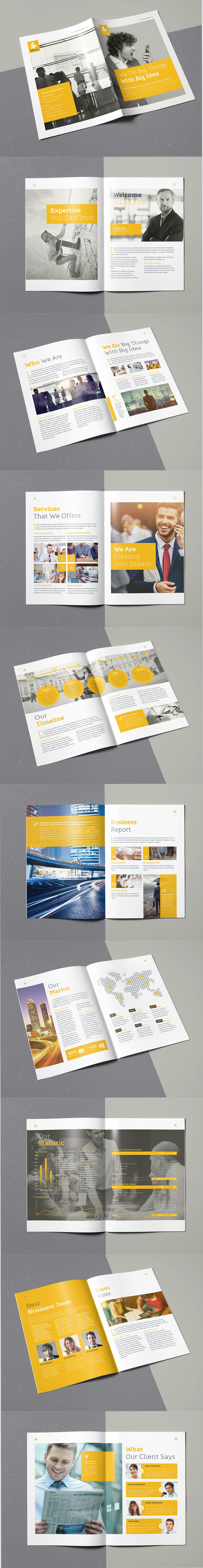 Enrico Business Brochure 20 Pages A4 Template InDesign INDD | Layout ...