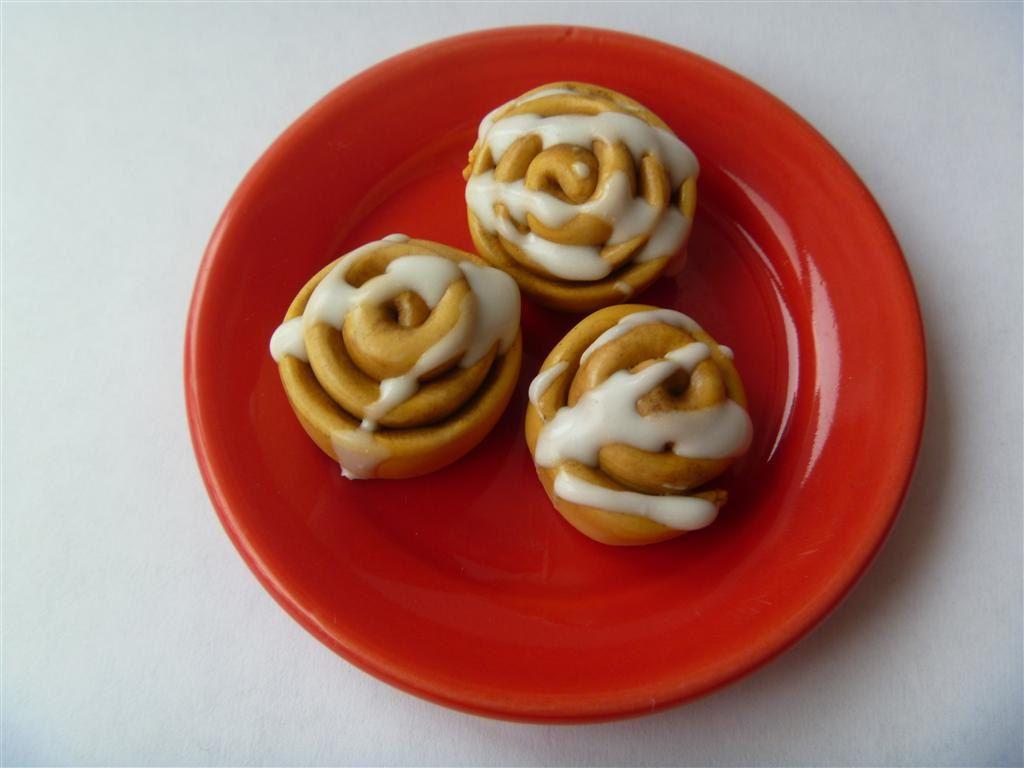 18 inch doll food three cinnamon rolls american girl