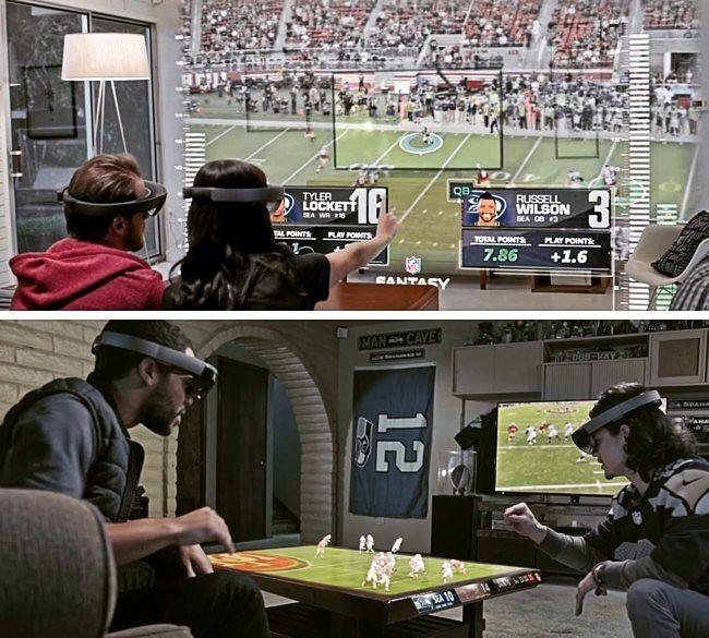 An awesome Virtual Reality pic! Así es como Microsoft quiere meterte el deporte en el salón: La Super Bowl y HoloLens hacen buen equipo. Conoce más en Blog.soltechosting.com  #hololens #superbowl #sport #sports #deportes #deporte #microsoft #realidadvirtual #virtualreality #supertazon #salon #games #juegos by soltec_hosting check us out: http://bit.ly/1KyLetq