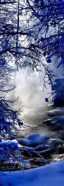 Very blue, very cold... Surreal.