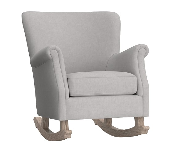 Minna Small Spaces Rocking Chair Ottoman Rocking Chair Comfy Rocking Chair Nursery Chair Small rocker recliner for nursery