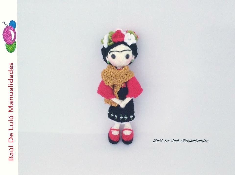 Amigurumis De Frida Kahlo : Llaveros de frida kahlo tejidos a crochet amigurumi en