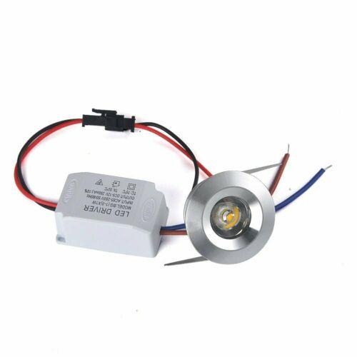 20x 1w Led Recessed Spot Lights Cabinet Mini Lamp Ceiling Downlight Kit White Recessed Spotlights Led Lights For Trucks Mini Lamp