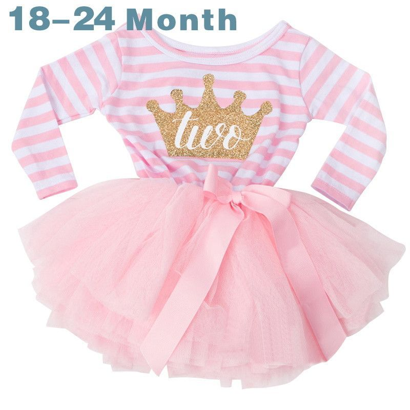 9ca1bc95eee8 Winter Baby Girl Baptism Dress Clothes For Newborn Infant 1 2 3 Year ...