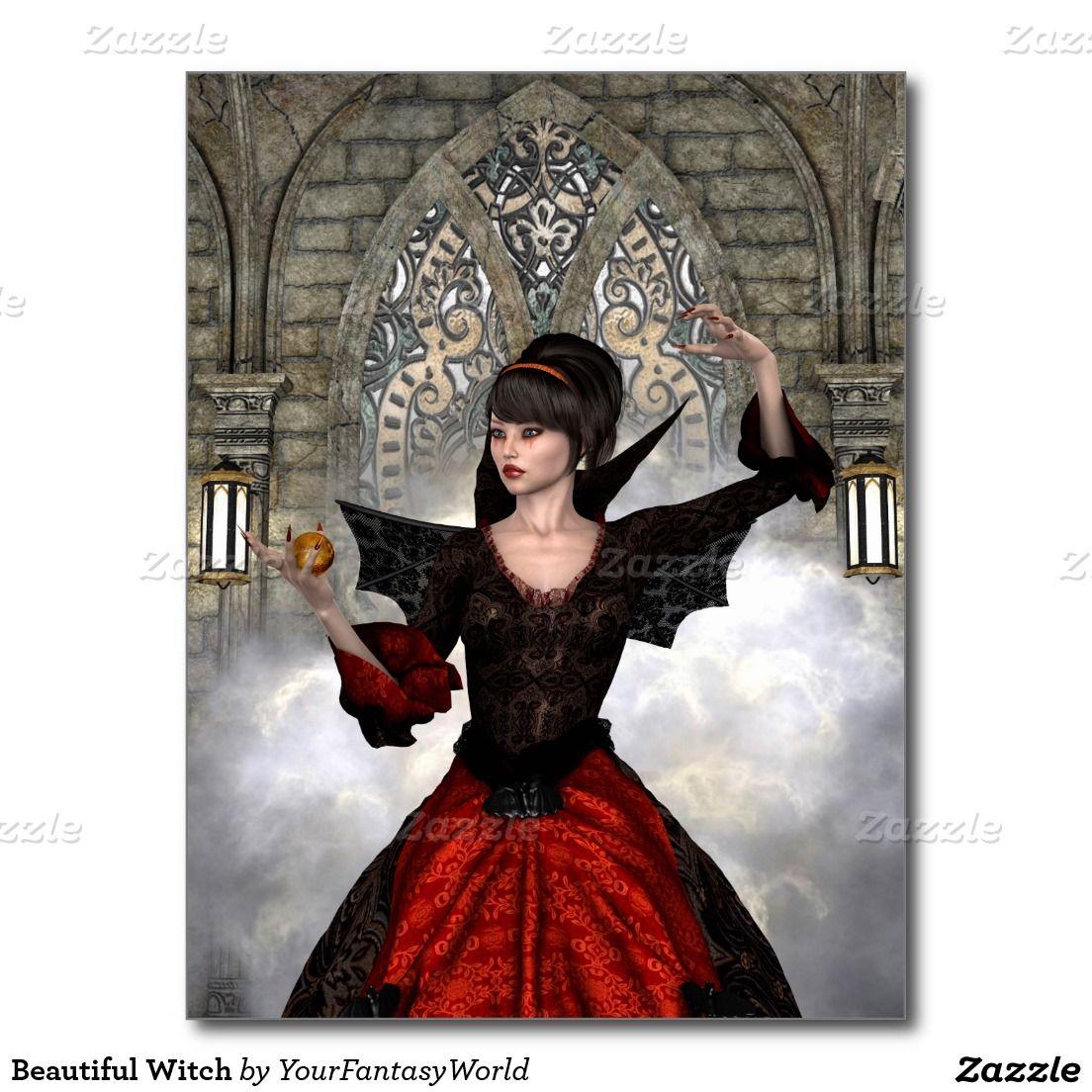 Beautiful #Witch Postcard