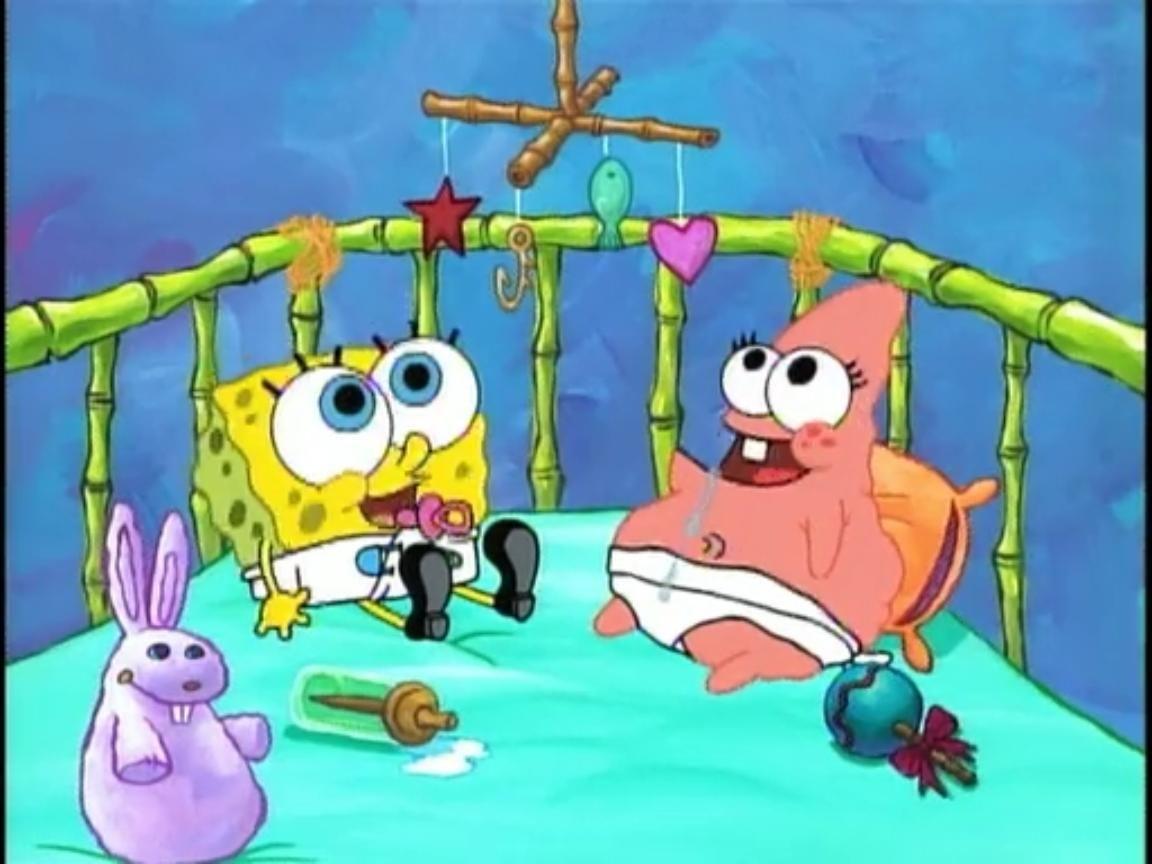 spongebob as a baby baby spongebob 26 baby patrick jpg