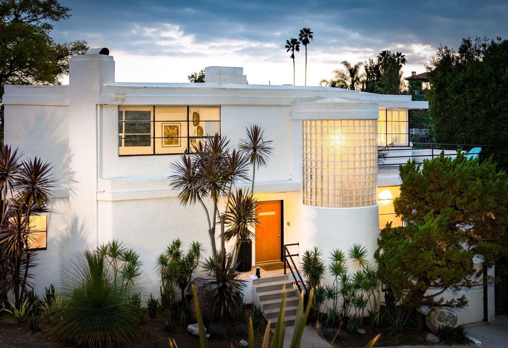 Los Feliz Streamline moderne, Mid century modern house