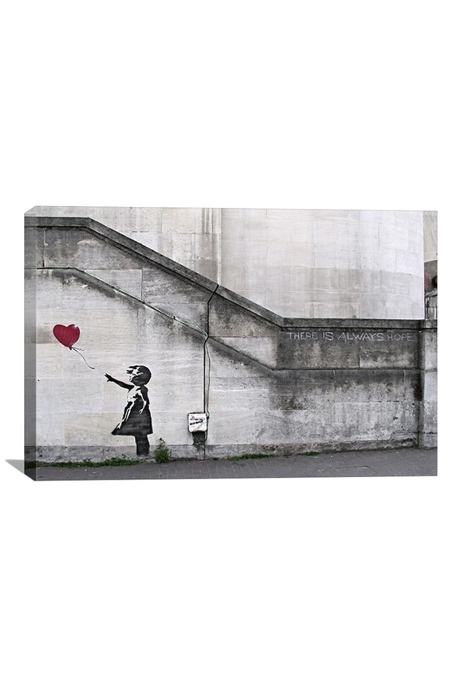 There is always hope balloon girl canvas print art pinterest