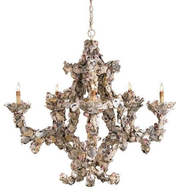 Ocean theme room currey co oyster shell chandelier traditional oyster shell chandelier traditional chandeliers candelabra aloadofball Image collections