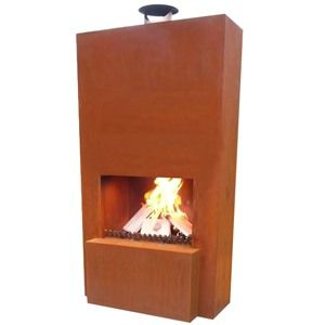 GardenMaxX Pinacate Steel Outdoor Fireplace