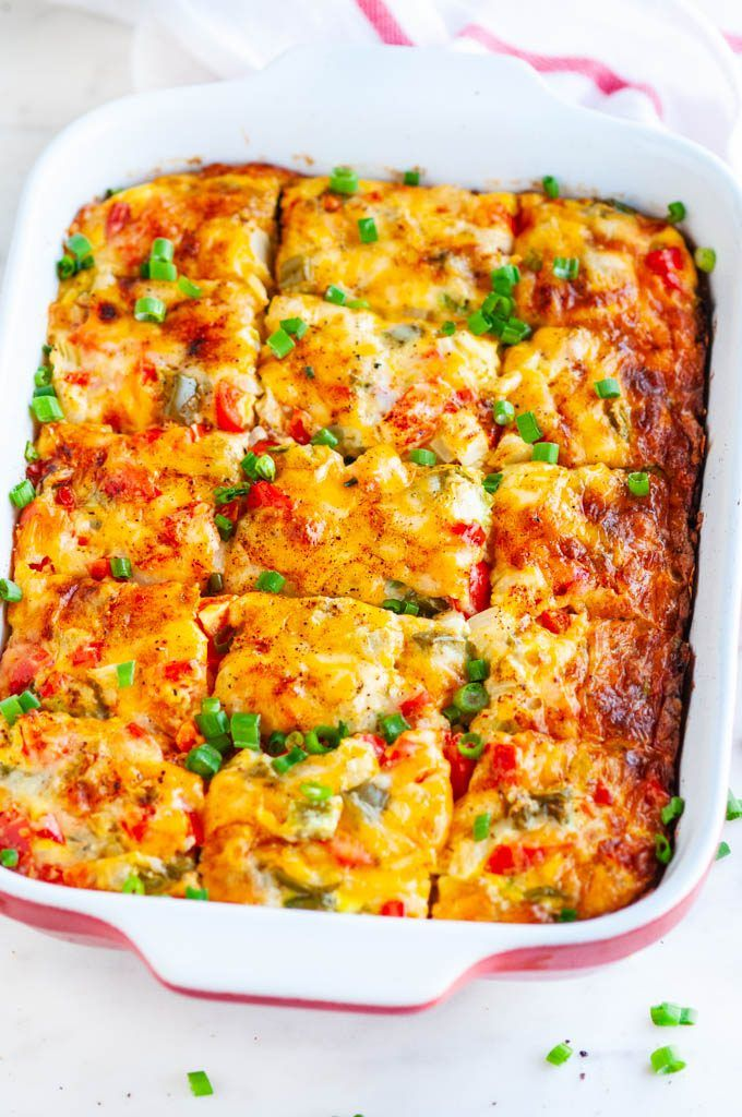 Easy Vegetarian Hash Brown Breakfast Casserole
