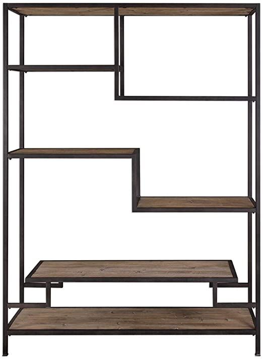 """Diva At Home 80"""" Sherwin Industrial Etagere Shelves"""
