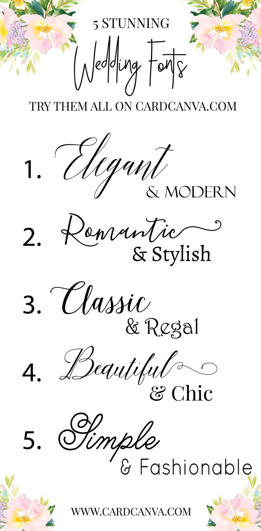 Try Those Beautiful Wedding Fonts With