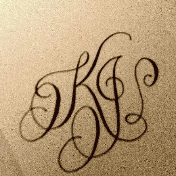 Calligraphy Monogram K J Monogram Tattoo Tattoo Lettering Letter L Tattoo