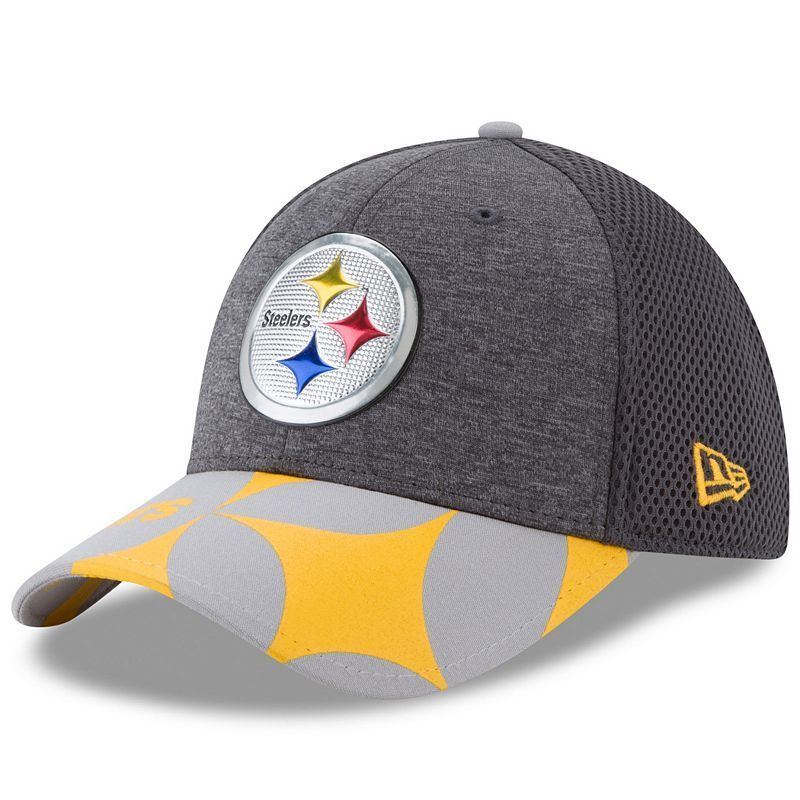 2dace346d Adult New Era Pittsburgh Steelers 39THIRTY NFL Draft Spotlight Flex-Fit Cap