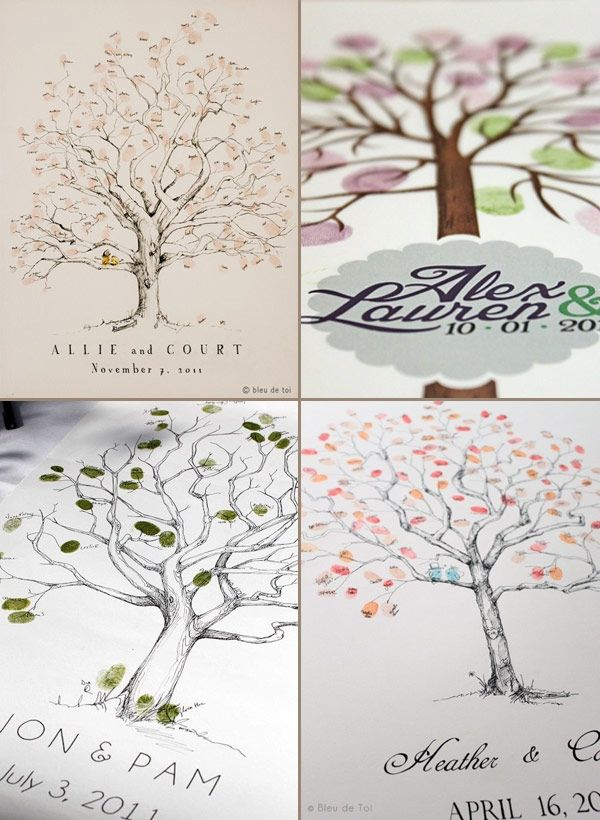 fingerprint tree-- great for wedding and baby showers