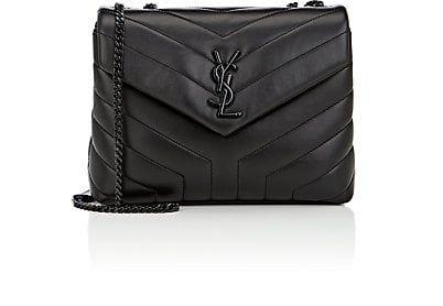 b9f2f6a4af YSL black on black SAINT LAURENT Monogram Loulou Small Leather Shoulder Bag