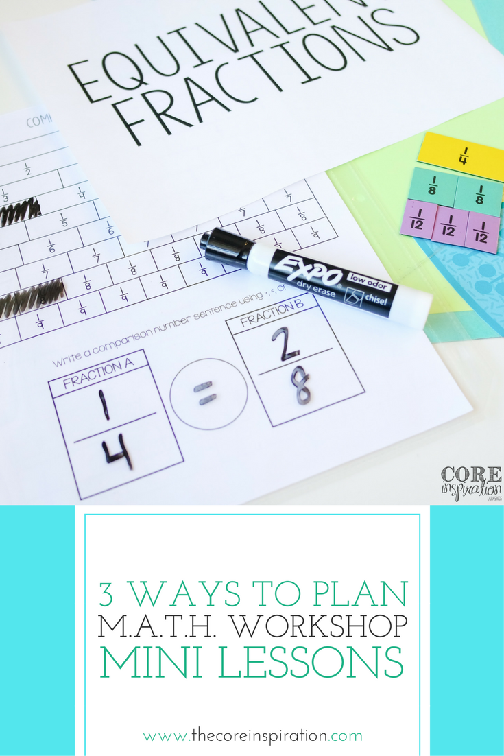 3 Approaches To Formatting Lessons For Math Workshop Pinterest