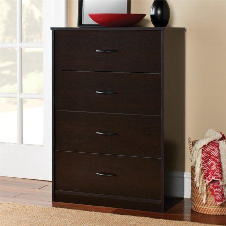 4 DRAWER DRESSER CHEST Bedroom Storage Wood Furniture Modern Clothes Cabinet New