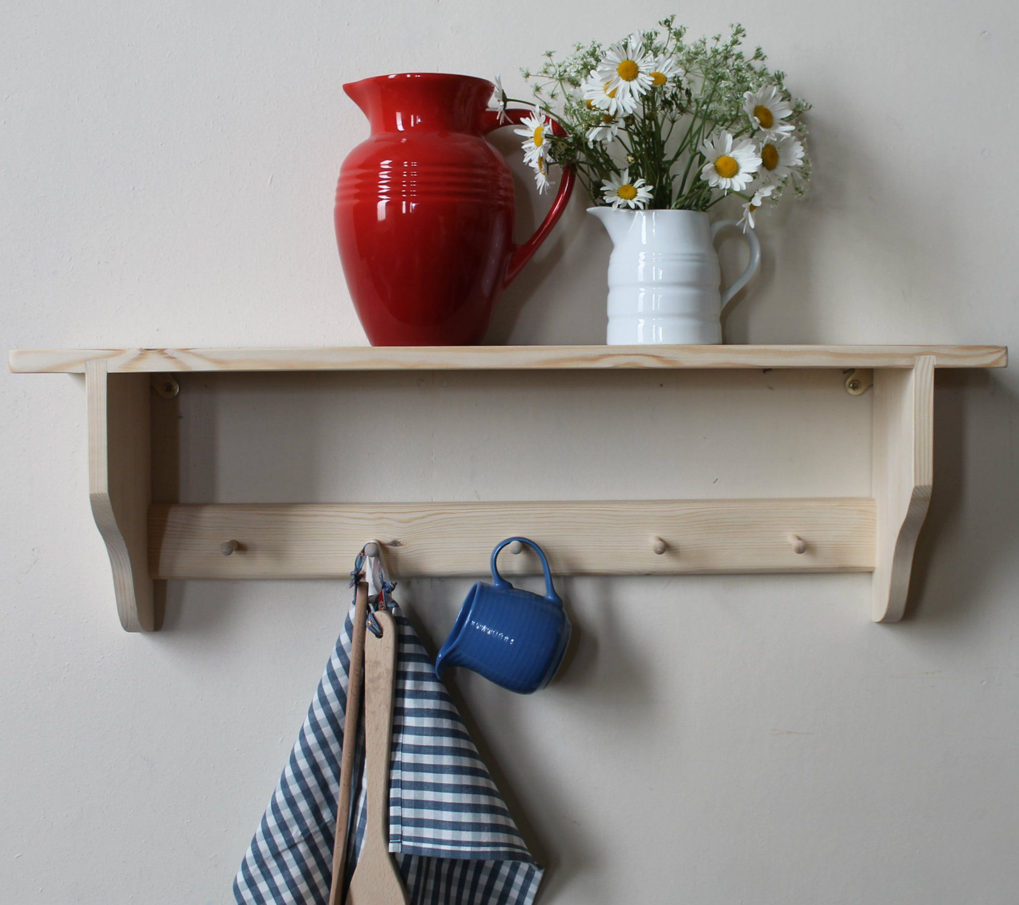 SHAKER 1 shelf with small pegs (With images) Shelves