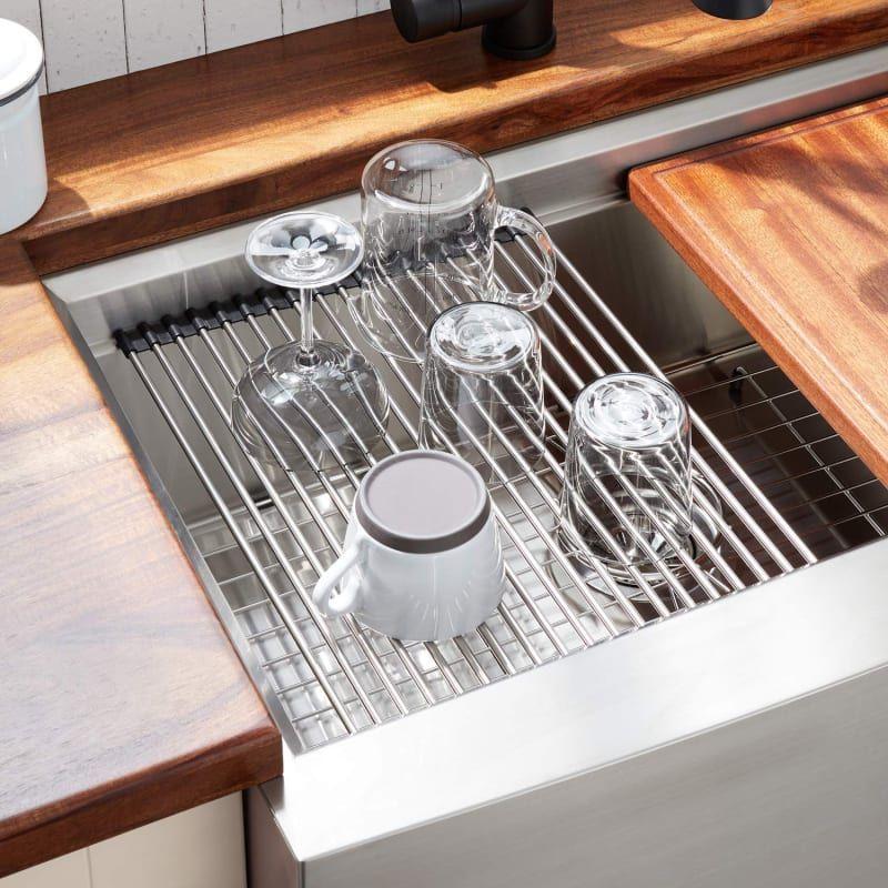 Signature Hardware 447800 Workspace Drain Board Build Com Small Kitchen Sink Dish Drainer Kitchen