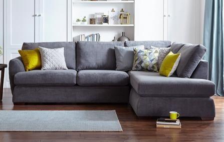 Karisma Left Arm Facing Open End Corner Sofa Sherbet Grey Corner Sofa Corner Sofa Uk Corner Sofa Bed Uk