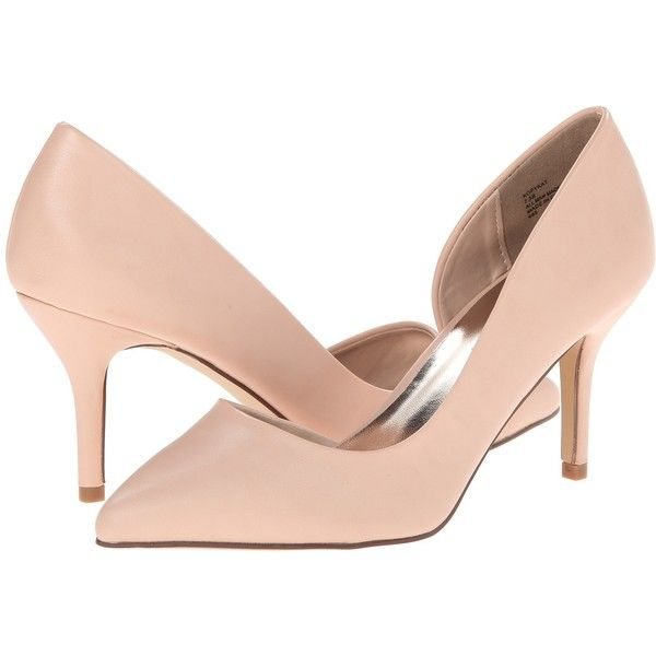 Madden Girl Kopykat High Heels, Beige ($25) ❤ liked on Polyvore featuring shoes, pumps, beige, synthetic shoes, beige pointed toe pumps, pointy-toe pumps, pointed toe shoes and pointed toe high heel pumps