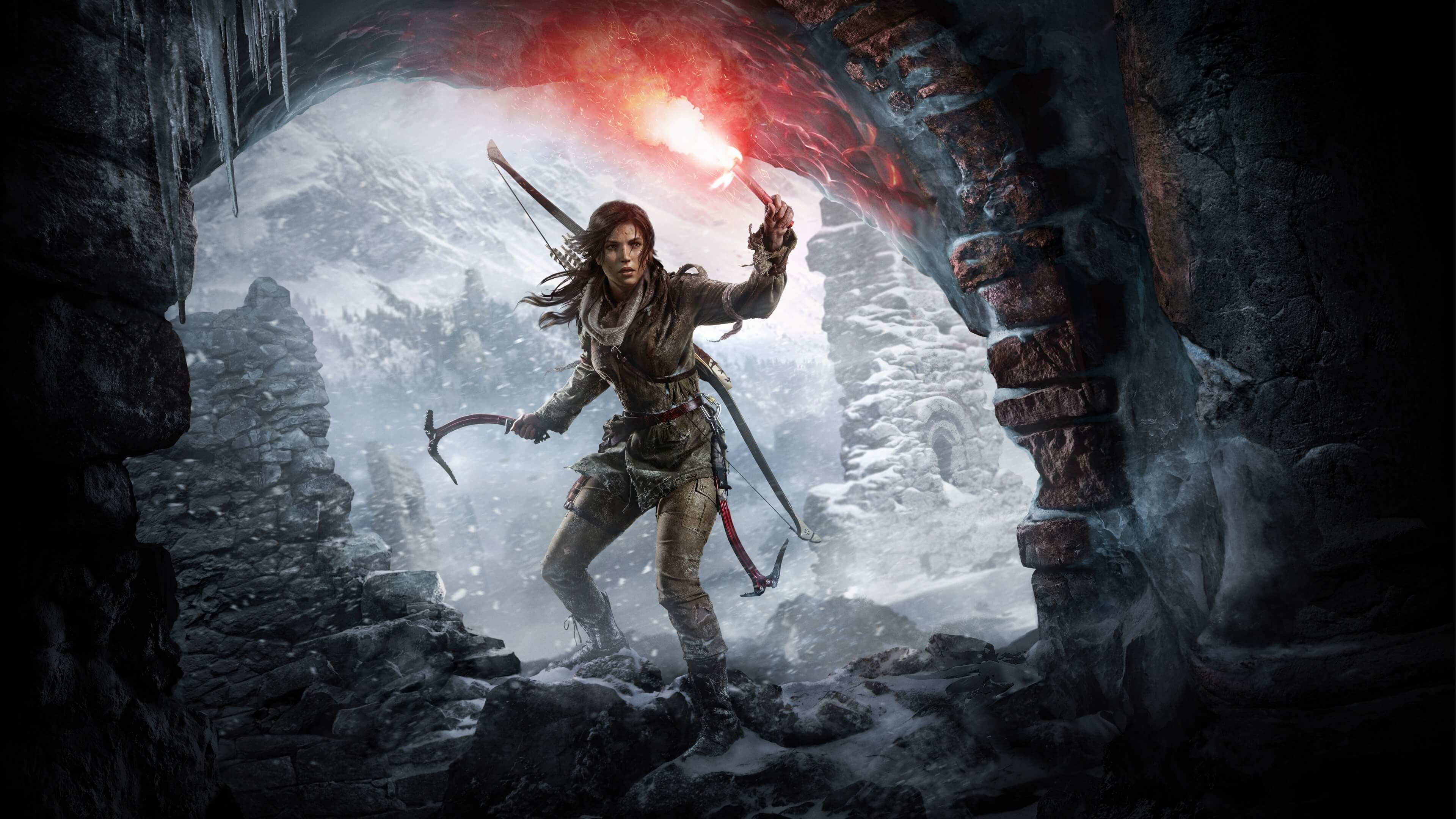 rise of tomb raider 1 3840x2160 wallpapers games pinterest