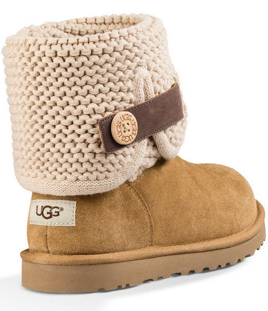 8a1a2929bbb Chestnut:UGG® Shaina Knit Top Boots | Things to Buy | Uggs, Boots ...