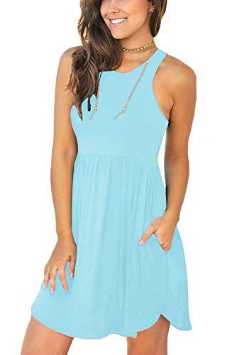 LONGYUAN Womens Summer Casual T Shirt Dresses Swimsuit