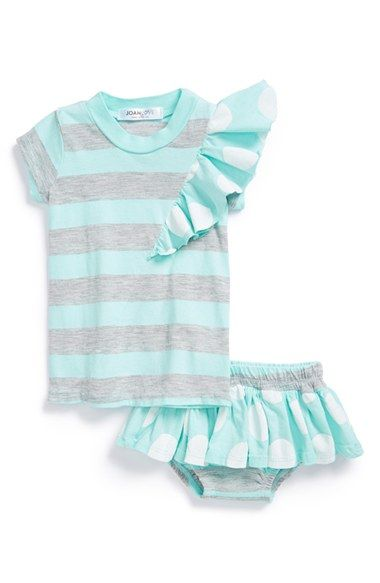 Joah Love Ruffle Stripe Dress   Bloomers (Baby Girls) available at   Nordstrom f7d9a4be2