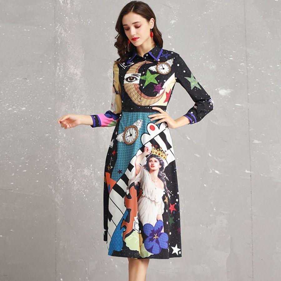 b719f333ac1d Buy Fleepmart fashion 2019 Luxury Fashion Designer Dress 2019 Women s Long  Sleeve Midi Christmas Dress Slim