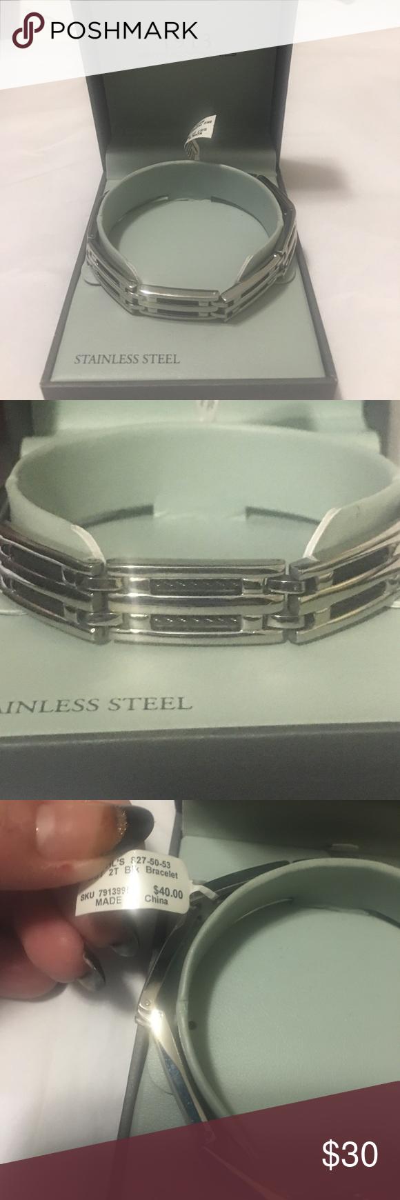 Bij A Hp Men S Stainless Steel 1913 Bracelet Jewelry Amazing Jewelry Bracelets For Men