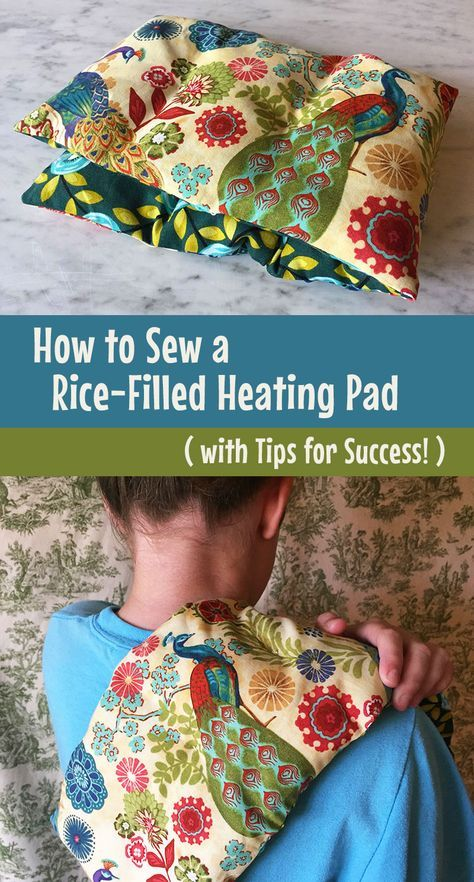 How to Sew Your Own Microwave Heating Pad #sewingcrafts