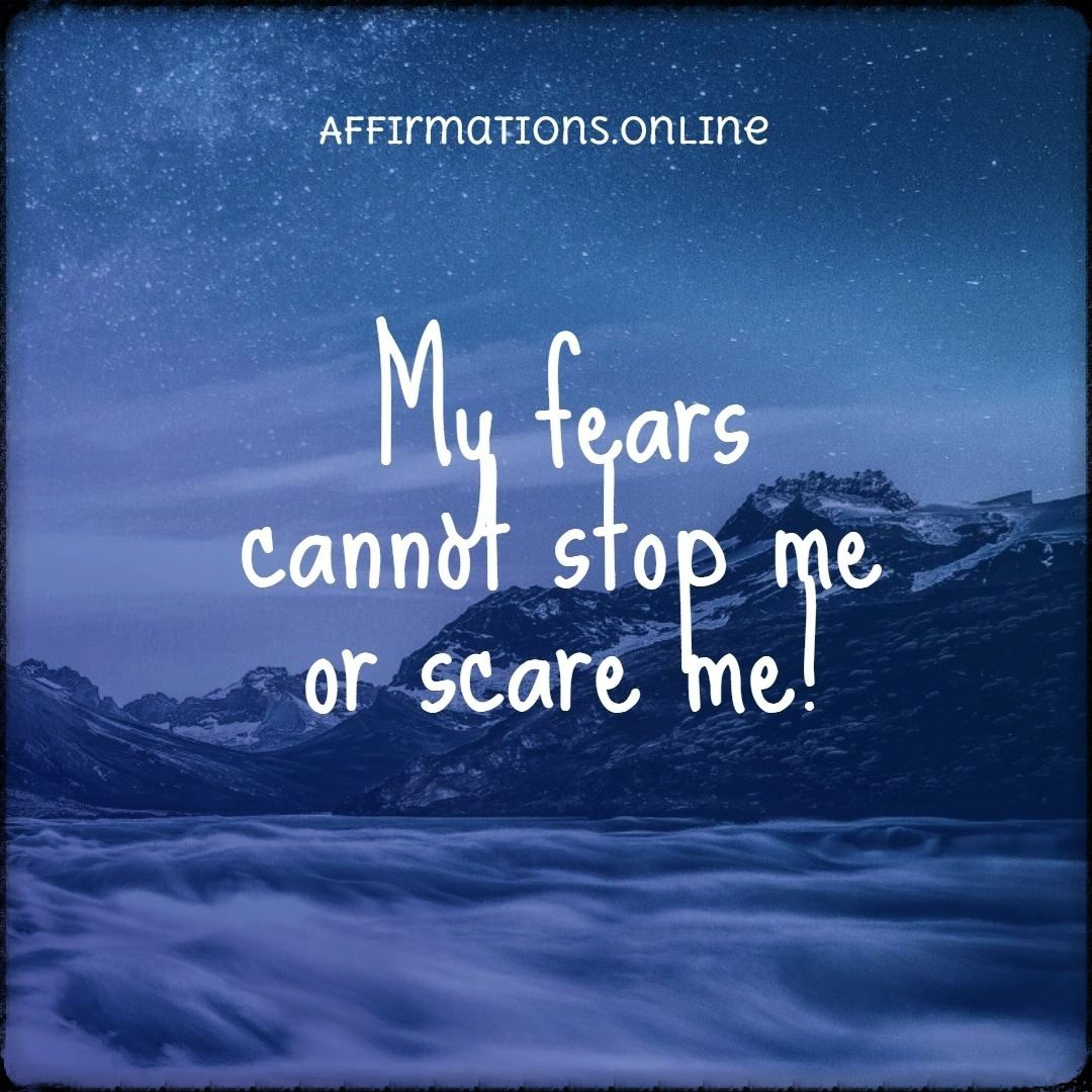Whenever Fear Comes It Quickly Goes Away In