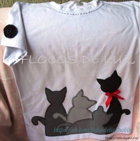 """Materiales gráficos Gaby: Apliques en costura para prendas """"Gatos"""""""
