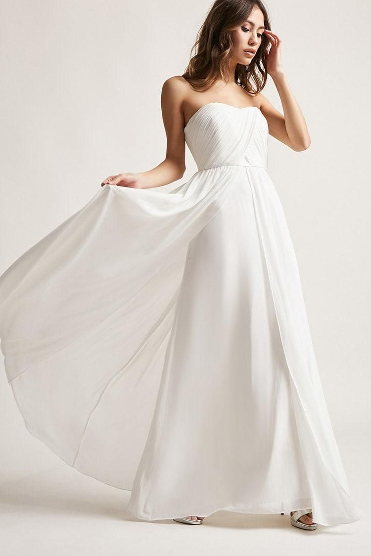 Strapless chiffon gown usd forever new forever