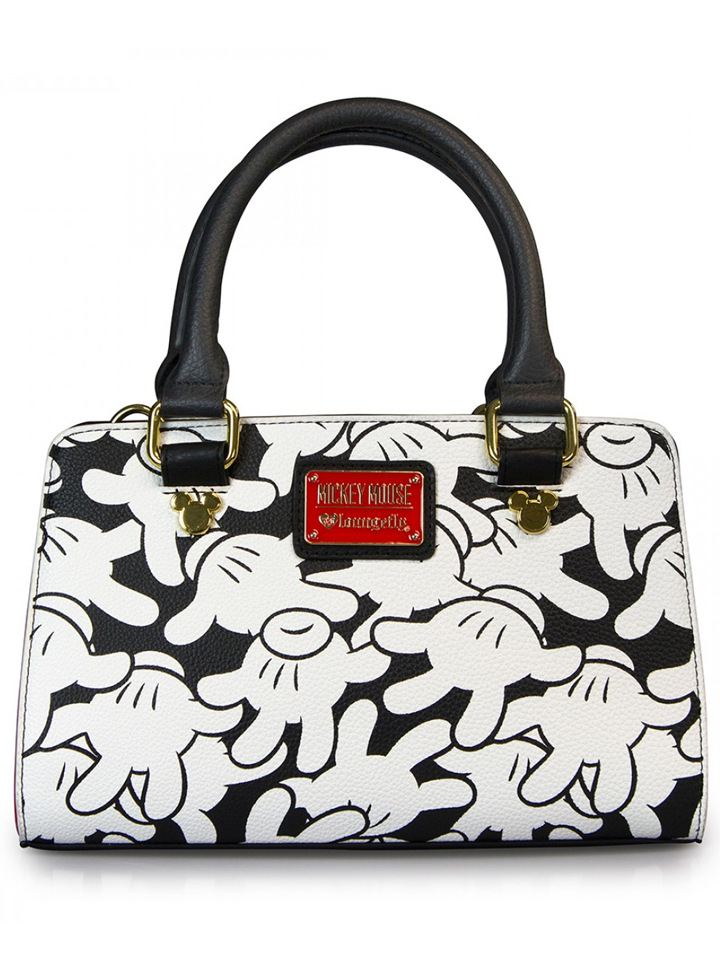 """""""Mickey Mouse All Over Print"""" Fashion Handle Crossbody Bag by Loungefly (White)"""