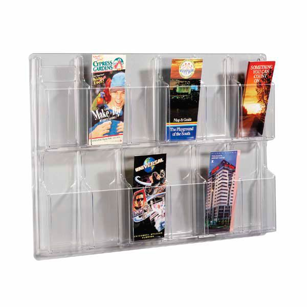 12 Pocket Classic Wall Brochure Holder Brochure Holders Trade Show Display Magazine Holders