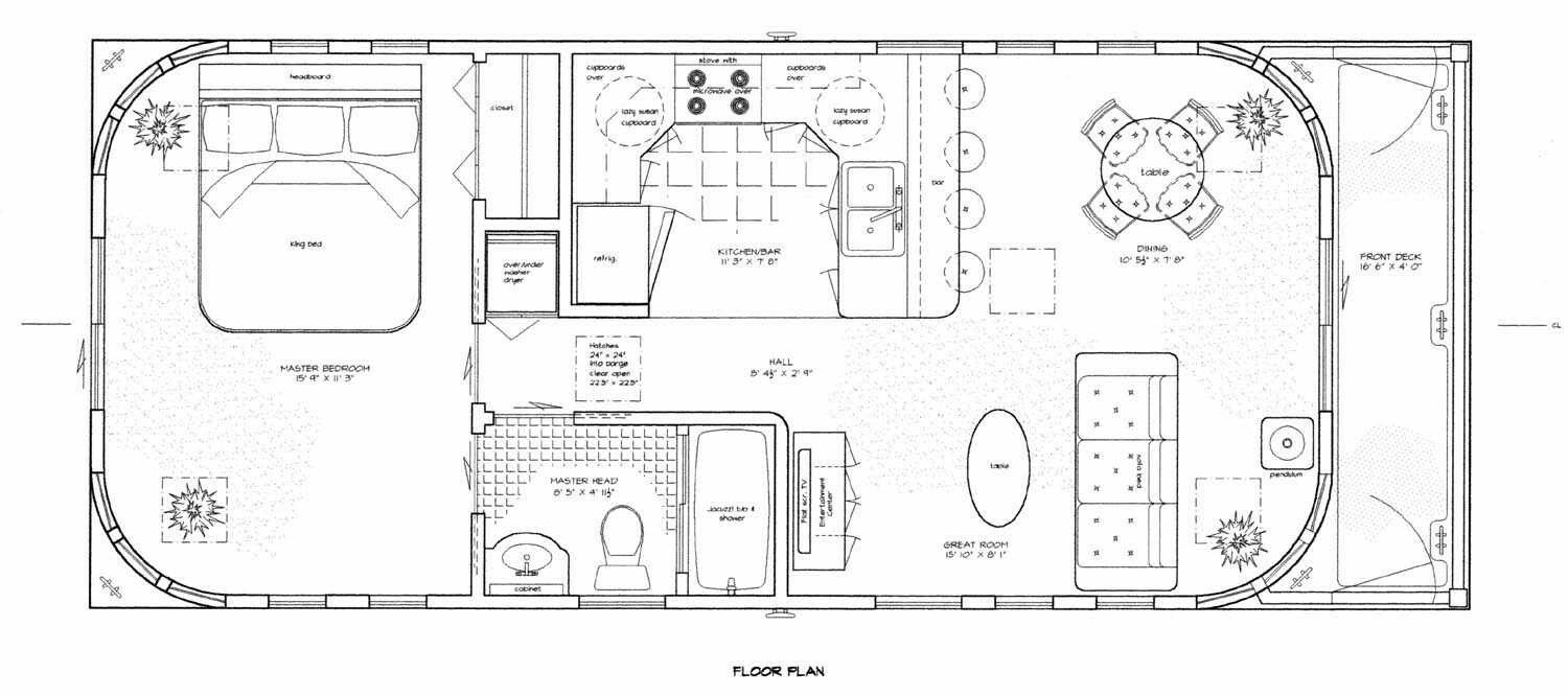 Sailboat Tiny House Layouts