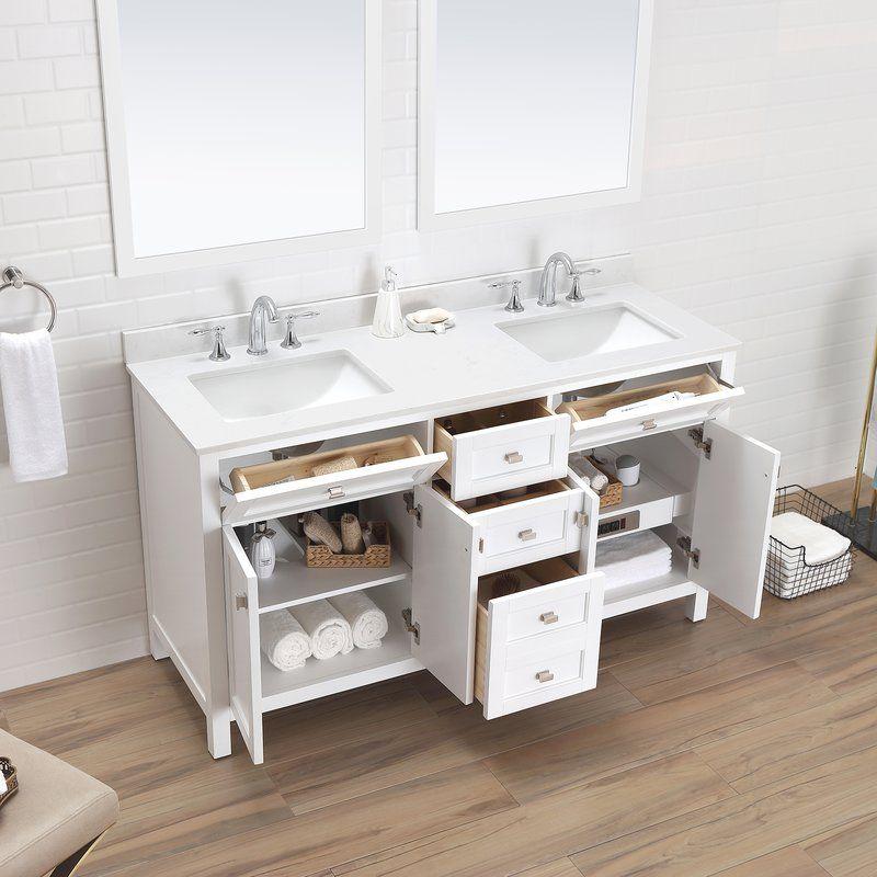 Bentson 60 Double Bathroom Vanity Set Double Bathroom Vanity Bathroom Vanity Vanity