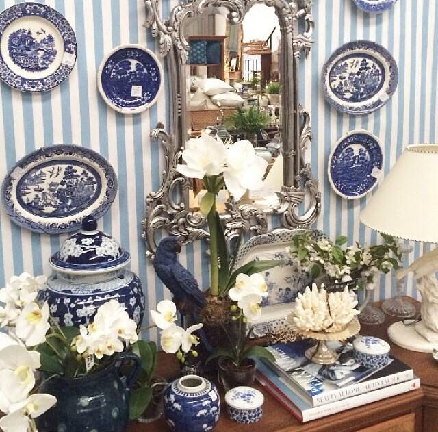 Blue & white on show at Botticelli House Warehouse!