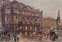 Piazza scala a Milano by Aldo Raimondi