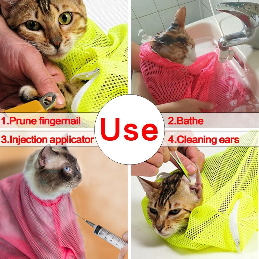 Best Cat Grooming Bathing Bag Cat Grooming Cat Bath Cat