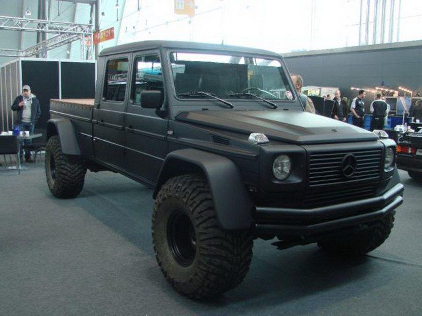 Monster Mercedes Benz G Wagen Pick Truck Conversion Carscoops Mercedes Truck Benz G Trucks