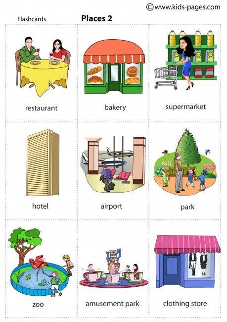 Community places worksheets for kindergarten places in a for Community places coloring pages