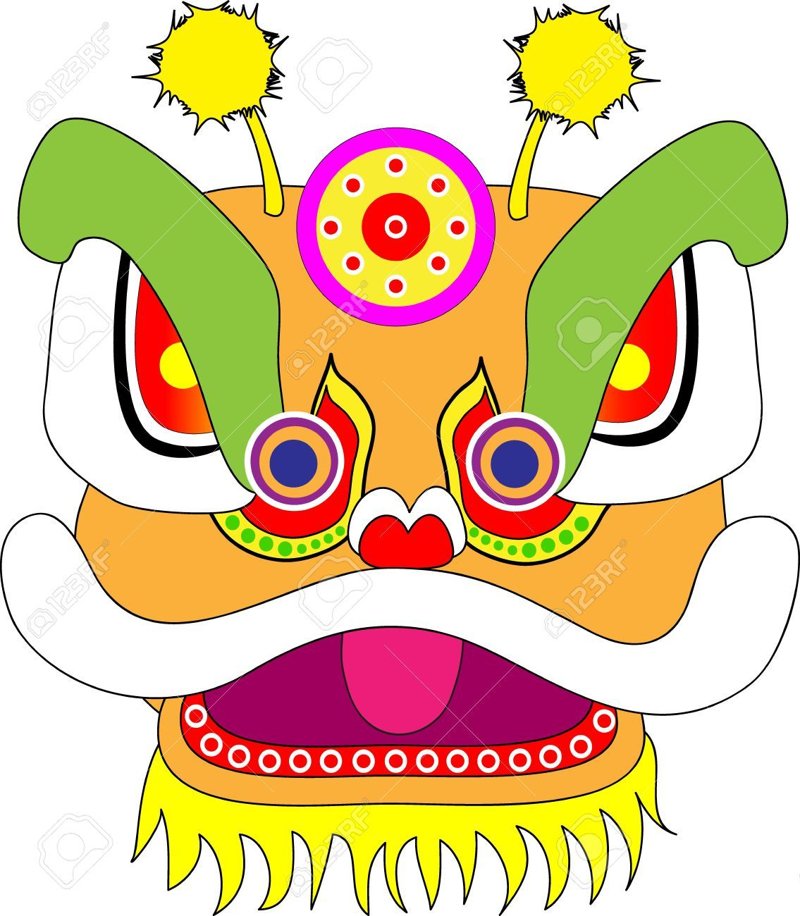 Masks Clipart Chinese Dragon 9